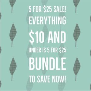 Bundle and save 5 for 25 today only !